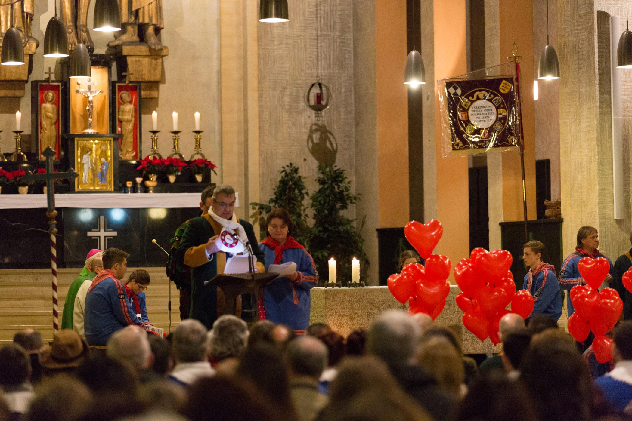 Narrenmesse zur Eröffnung des Ringtreffens des VFON in der St Fidelis Kirche in Burladingen.