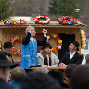 Fasnetsspiel 2018 in Burladingen.