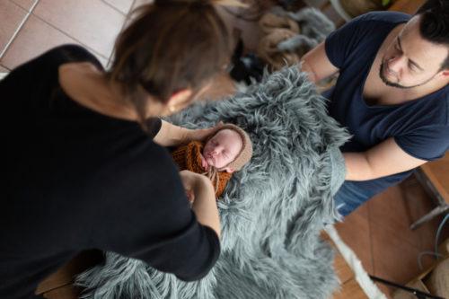 Behind the Scenes Aufnahme Workshop Newbornfotografie bei Stella & Uwe Fotografie in Papenburg.